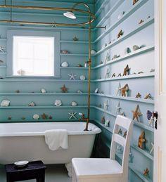 интерьер ванной в морском стиле