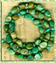"""Mexican Campo Frio Turquoise Beads 17"""" Strd Natural Color Genuine 2 Sizes LG SM 