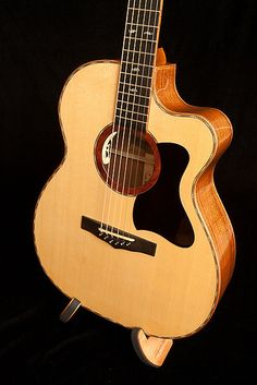 Lichty Guitars • Custom Sapele Om Cutaway Guitar