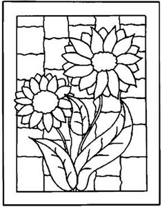 Use for miniature faux stained glass Stained Glass Patterns Free, Stained Glass Quilt, Faux Stained Glass, Stained Glass Designs, Stained Glass Projects, Mosaic Patterns, Mosaic Flowers, Stained Glass Flowers, Pocket Letter
