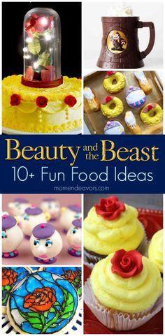 Beauty & the Beast Fun Food Ideas - Perfect for a movie night or Beauty & the Beast party! (birthday treats for work) Beauty And Beast Birthday, Beauty And The Beast Theme, Disney Beauty And The Beast, Beauty And The Beast Cupcakes, Beauty Beast, Comida Disney, Disney Inspired Food, Fun Food, Good Food
