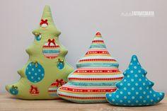подушки новогодние елочки