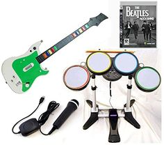 Playstation 3 PS3 Rock Band BEATLES Video Game Complete Bundle with Wireless Guitar and drums  USB Microphone hero kit set play music ** Continue to the product at the image link. Note:It is Affiliate Link to Amazon.