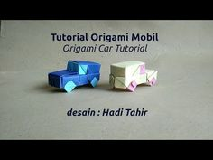How to Make Origami Car (with color-change) (Hadi Tahir) Mobil Origami, Origami Car, Origami Mobile, Paper Art, Paper Crafts, How To Make Origami, Diy Car, Premium Wordpress Themes, Color Change