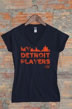 My Detroit Players Tee available in Womens & Mens at www.InkDetroit.com