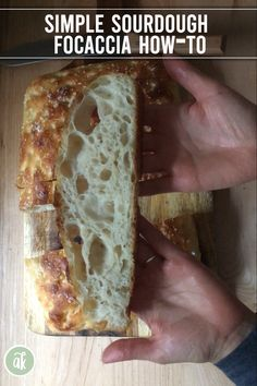 Focaccia is a great beginner's sourdough recipe — there's no complicated shaping, no fancy scoring, no special equipment. This tutorial shows you how to make sourdough focaccia start to finish. dinner videos Simple Sourdough Focaccia: A Beginner's Guide Focaccia Bread Recipe, Sourdough Recipes, Naan Recipe, Wild Yeast Bread Recipe, Sourdough Bread Recipe King Arthur, Organic Bread Recipe, Simple Bread Recipe, Sourdough Baguette Recipe, Sourdough Bread Machine