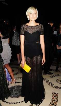 agyness deyn black dress. A little color can simply brighten any outfit. I'm giving this concept a try.