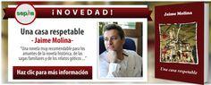 """Hoy os presentamos """"Una casa respetable"""" (editorial Sepha), la nueva novela de Jaime Molina, un joven escritor que ya ha ganado varios importantes certámenes literarios como son los premios Juan Valera o Blasco Ibáñez. http://universolamaga.com/blog/una-casa-respetable/"""