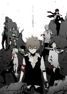 Vongola Guardians - Monochromatic with red #KHR #Reborn