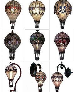 "steampunktendencies: "" Baroque Hot Air Baloon Light Bulbs #steampunktendencies…"