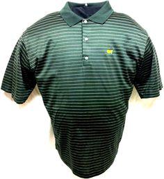 Bobby Jones Dark Green The Masters Augusta National Golf Polo Shirt Size XL #BobbyJones #PoloRugby