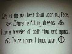 Put this together myself and getting it tattooed on my ribs. Led Zeppelin Kashmir quote.