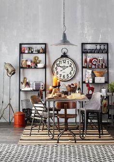 industrial eclectic open storage shelves