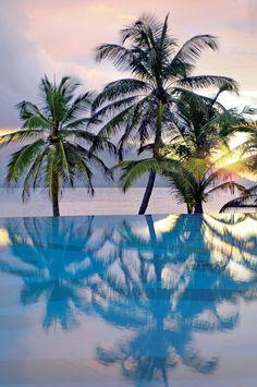 Beautiful sunset - Sainte Anne Island - Seychelles