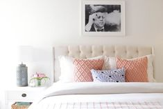Statement art: http://www.stylemepretty.com/living/2016/09/21/10-ideas-for-decorating-that-forever-blank-wall-over-your-bed/