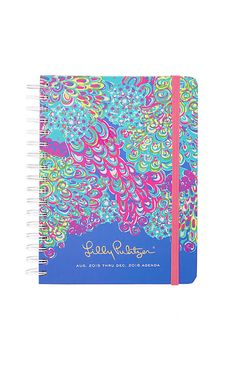 The Lilly Pulitzer Large Agenda is here in your favorite print,. Keep your social schedule in order (and in style) with your new planner. Your favorite features are back - the elastic band closure, reinforced printed front pocket and tabs...and new stickers from our 5x5 gallery. There are plenty of new features in this year's agenda including a monthly reference view added to calendar pages, new graphics throughout to make you smile, and a new Palm Beach travel guide & journal section. This…