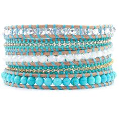 Chan Luu - Turquoise Mix and Chain Wrap Bracelet on Beige Leather, $170.00 (http://www.chanluu.com/wrap-bracelets/turquoise-mix-and-chain-wrap-bracelet-on-beige-leather/)