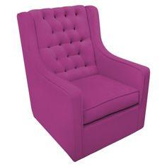 Rockabye Glider Co. Bella Velvet Grande Glider Chair - Hot Pink for nursery. Glider And Ottoman, Glider Chair, Swivel Glider, Baby Glider, Nursery Furniture, Kids Furniture, Black Velvet Chair, Pink Velvet, Furniture Gliders