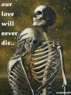 The Lowbrow Art Sale: John Brophy, James Jean & Chris Peters Skeleton Love, Skeleton Art, Skull Reference, Dark Love, Skulls And Roses, Lowbrow Art, Couple Art, Grim Reaper, Memento Mori