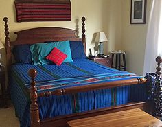 India And Pakistan, Bedspreads, Fair Trade, Pillow Covers, Quilts, Pillows, Pictures, Blue, Furniture