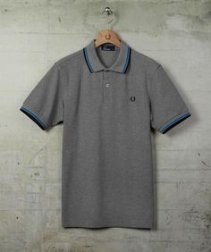 www.brokencherry.com #fredperry #mod #fashion  Men's Twin Tipped Marl Shirt   $79.00