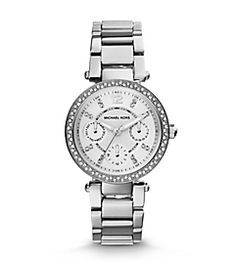 3c8b545c93 Parker Pavé Silver-Tone Watch Sexy Cocktail Dress