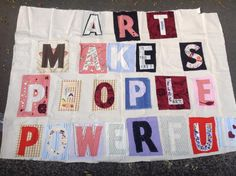 MaDe In DeRrY Courtois Shirt Factory St. John FM - Banner created for the Art Party Conference Art Party, Factories, Apc, Banners, Conference, Quilts, Create, Shirt, How To Make