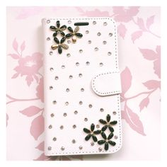 Be a bling princess with this totally unique case for Samsung Galaxy S5. Brand new and very durable. Stylus and screen protector included.  Please contact me for custom orders. #Etsy #rhinestones #bling #flowers #phonecase #leatherwallet #walletcase #unique