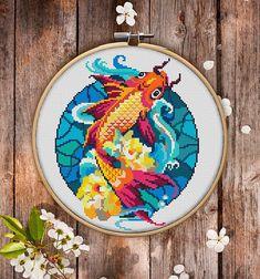 Mandala Fish Cross Stitch Pattern for Instant Download 170