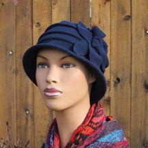 Fleece Flower Cloche Hat--for big heads like me!