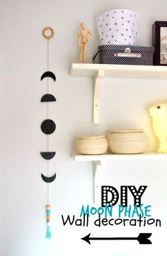 nostalgiecat: Moon phase wall decoration DIY