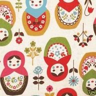 Japanese matryoshka fabric!