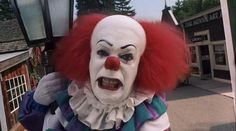 """Pennywise the Clown - Tim Curry - """"Aw Georgie.don't you want a balloon? It Pennywise, Pennywise The Dancing Clown, Horror Icons, Horror Films, It Miniseries, Horror Movie Quotes, Tim Curry, Le Clown, Tatoo"""
