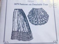 Truly Victorian TV125 1879 Petticoat Pattern with Detachable Train – Old Petticoat Shop