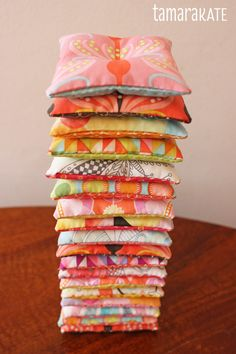 { Happy Sewing } ... Hand Warmers by Tamara Kate using her Helen's Garden & Flight Patterns.