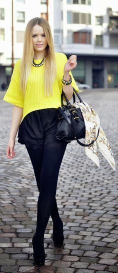 Gorgeous Yellow Sweater # Best Fashion & Inspiration