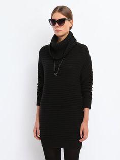 Poze Pulover negru, pe gat - Tina R Top Secret, Golf, Turtle Neck, Model, Dresses, Fashion, Tunic, Vestidos, Moda