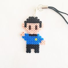 Spock - Star Trek Next Generation phonestrap perler beads by Pixel Empire