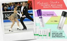 YouBeauty.com is giving exclusive beauty secrets of the U.S. Olympic Figure Skating Team! Madison Chock uses Rodan and Field's Soothe Regimen for sensitive skin to treat redness that is exacerbated by the frosty skating rink air. Thanks to Madison for sharing.