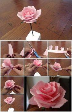 Roos vouwen van papier