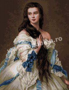 Cod produs: 1.18 Nadejda Culori: 32 Dimensiune: 26 x 34 cm Franz Xaver Winterhalter, Classic Paintings, Beautiful Paintings, Victorian Paintings, Classical Art, High Society, Renaissance Art, Woman Painting, Michel
