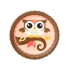 Owl Girl - Look Whooo's Having A Birthday - Dessert Plates - 8 Qty/Pack - Birthday Party Supplies