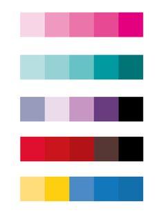 Kleurenpalet: De onderste kleurenpalet is gebaseerd op de film Mamma Mia. De andere kleurenpaletten zijn zeer typische kleuren voor romantische komedies omdat deze kleuren ook symbool staan voor de liefde en romantiek.