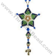 Christmas Tree Shooting Star Ornament Bead Pattern By ThreadABead