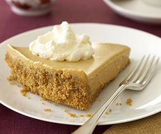Chiffon Pumpkin Pie: With its delicious creamy filling and graham cracker crust, this may not be your traditional pumpkin pie recipe, but it may be your new favorite holiday dessert.