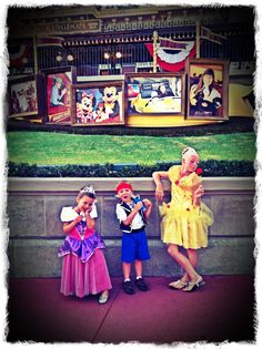 Great Disney Photo - right when you come in the gates at the Magic Kingdom