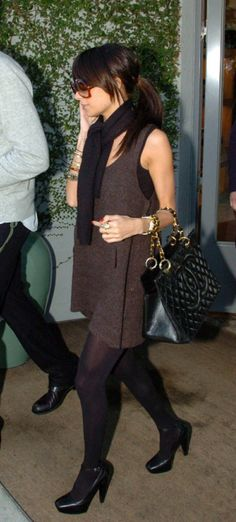 a3d5bdb85dcb Nicole Richie wearing Balenciaga Pumps, Chanel Medallion Caviar Quilted  Tote, Leaving Marc Jacobs Boutique