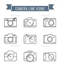 Camera Logo, Camera Icon, Camera Tattoo Design, Tattoo Camera, Wrist Tattoo, Camera Outline, Kamera Tattoos, Photographer Tattoo, Tattoo Ideas