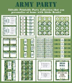 Army Party Printables