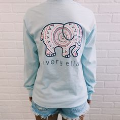 Pocketed long sleeve sky blue mandala print ivory ella small